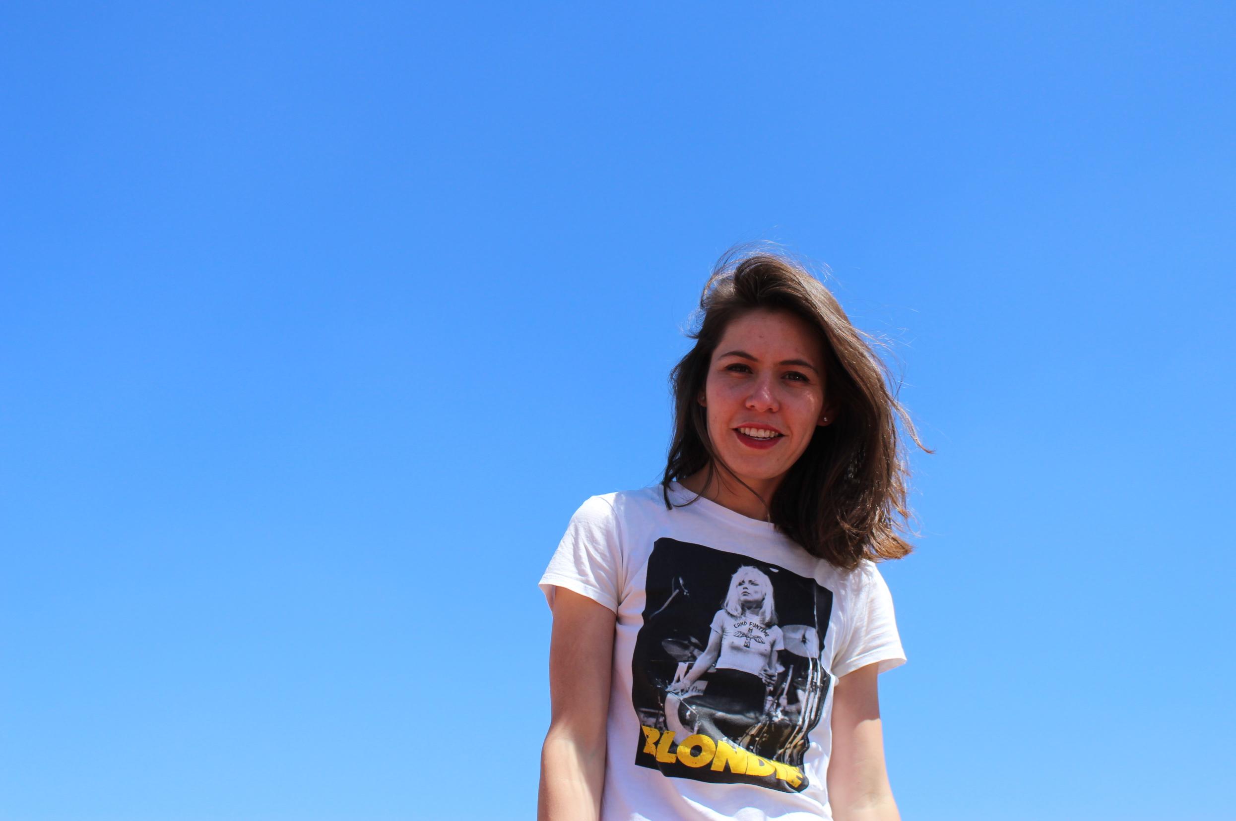 Brenda Muñoz Salazar with blue sky background