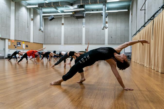 Dancers Dancing in Class in a Studio