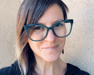 Christine Cali selfie with glasses